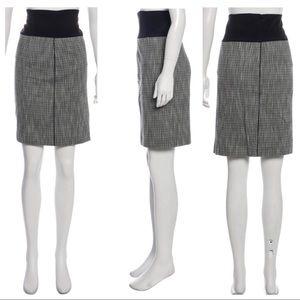 ZAC POSEN Plaid Knee-Length Skirt